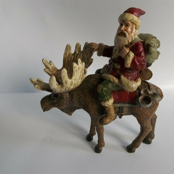 Midwest Of Cannon Falls Holiday Santa On Moose Elk Figure Midwest Cannon Falls Poshmark